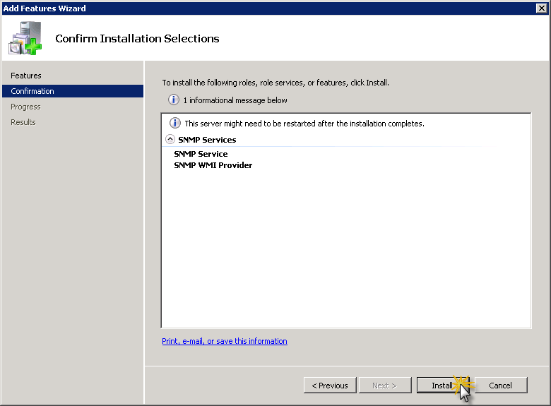 How-to : Adding SNMP to Windows Server 2008 R2 | SK Tech